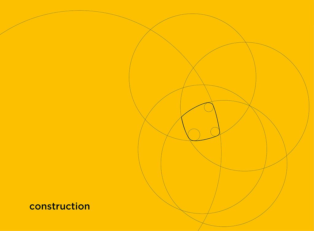 """Costruzione geometrica marchio """"Grado – Più di un'isola"""""""