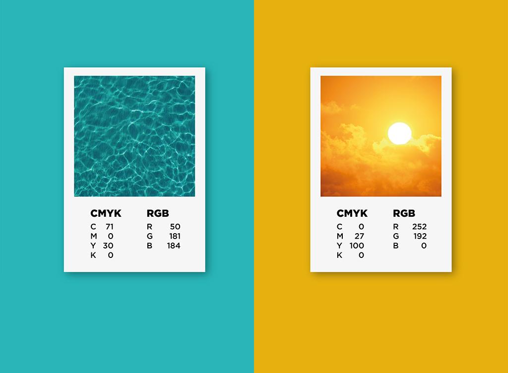 """Palette cromatica marchio """"Grado – Più di un'isola"""""""