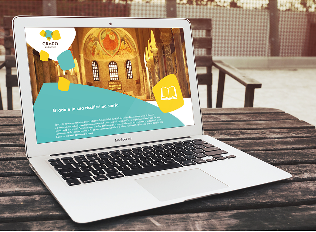 """Progettazione interfaccia grafica del sito web """"Grado – Più di un'isola"""""""