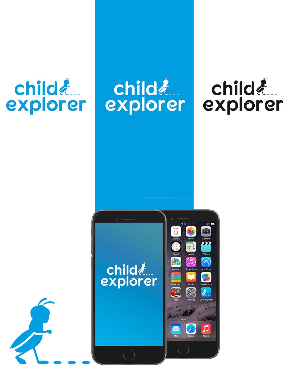 design logo child explorer declinazioni