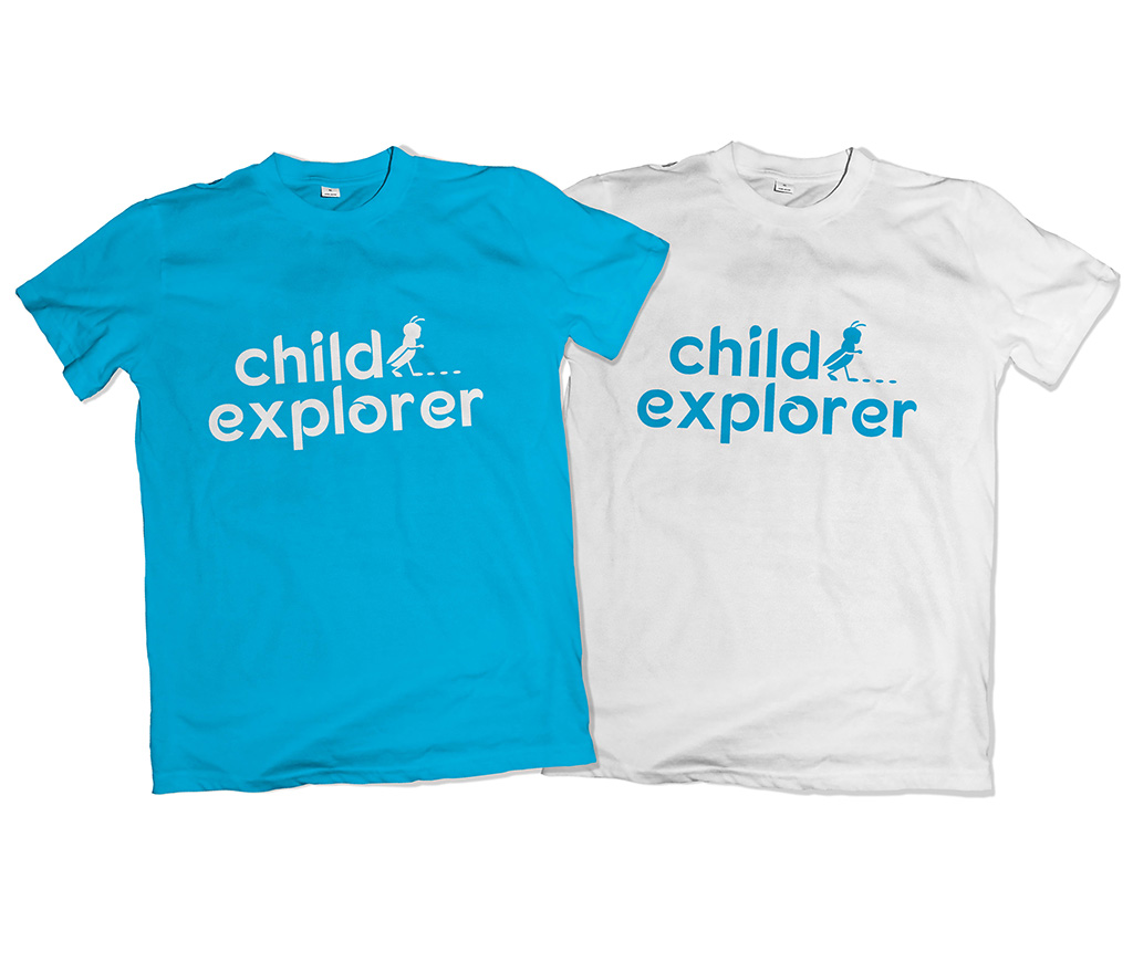 logo child explorer t-shirt