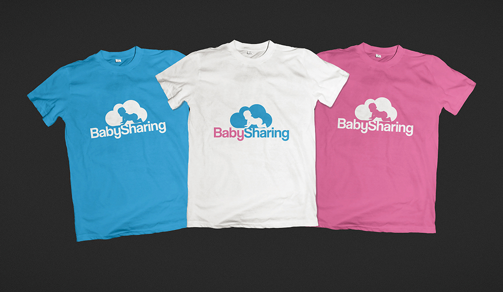 logo baby sharing t-shirt